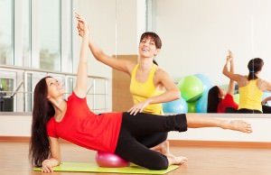 Group-training-in-a-gym